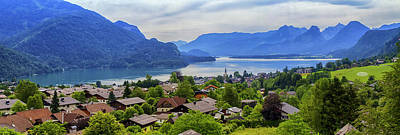 Photograph - St. Gilgen Village And Wolfgangsee Lake, Austria by Elenarts - Elena Duvernay photo