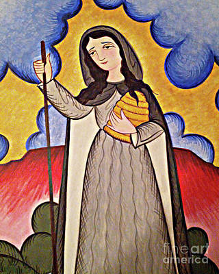 Painting - St. Gobnait - Aogbn by Br Arturo Olivas OFS