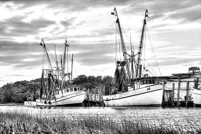 St. Helena Shrimp Boats Art Print