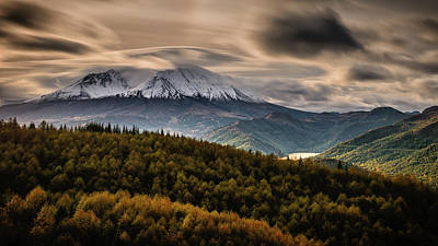 Print featuring the photograph St. Helens Wrath by Dan Mihai