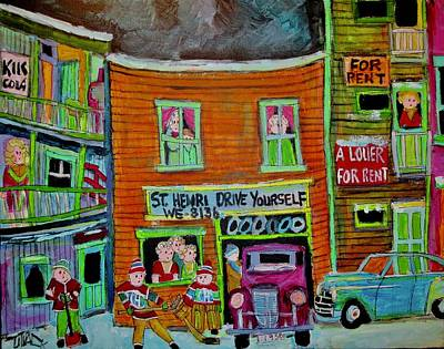 Painting - St. Henri Drive Yourself  by Michael Litvack