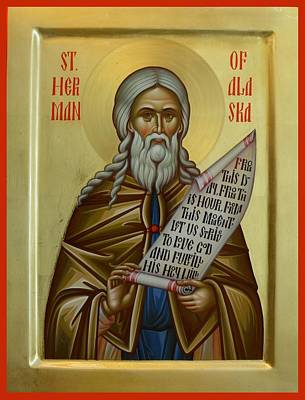 Valaam Painting - St. Herman Of Alaska by Daniel Neculae