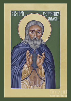 St. Herman Of Alaska  - Rlala Art Print by Br Robert Lentz OFM