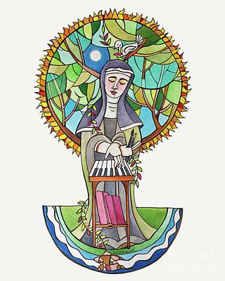 Painting - St. Hildegard Of Bingen - Mmhld by Br Mickey McGrath OSFS
