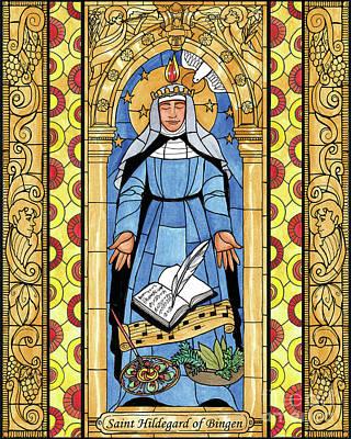 Painting - St. Hildegard Of Bingen by Brenda Nippert