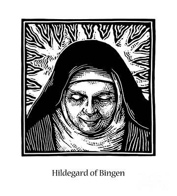 Painting - St. Hildegard Of Bingen - Jlhil by Julie Lonneman