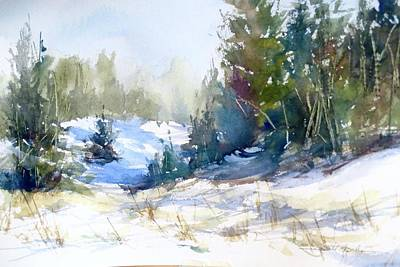 Painting - St. Ignace Dunes by Sandra Strohschein