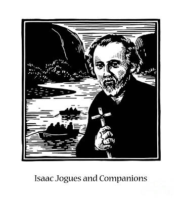 Painting - St. Isaac Jogues And Companions - Jlijc by Julie Lonneman
