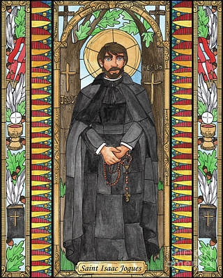 Painting - St. Isaac Jogues by Brenda Nippert