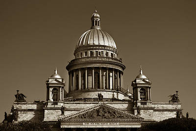 Photograph - St Isaac's Cathedral. by Terence Davis