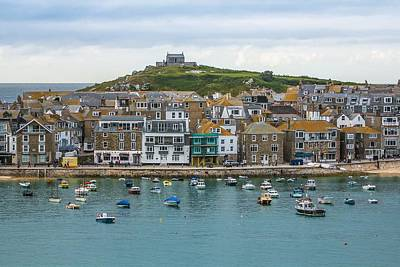 Photograph - St. Ives View To Island From Across The Harbour Front by Joy of Life Art Gallery