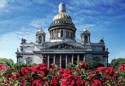 Photograph - St. Izaak Cathedral In Sankt Petersburg by Jaroslaw Blaminsky