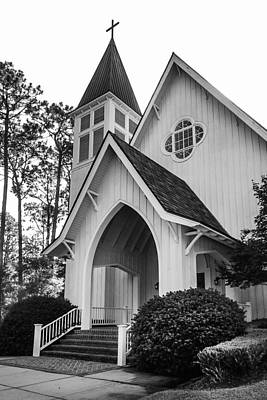 Photograph - St. James Church Bw by Michael Thomas