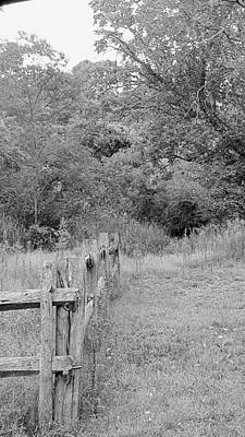 Photograph - St. James Fence B W by Rob Hans