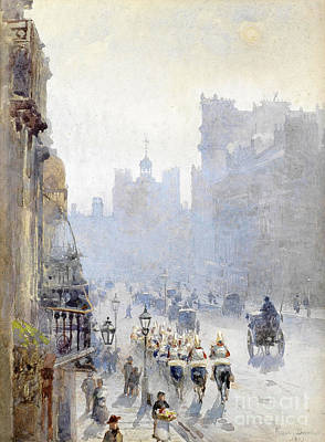 Barton Painting - St. James's Street Looking Towards St. James's Palace by Celestial Images