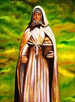 St Jeanne Jugan Of France Art Print by Xafira Mendonsa