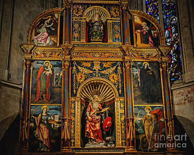 Photograph - St. Jerome Chapel Altarpiece by Sue Melvin