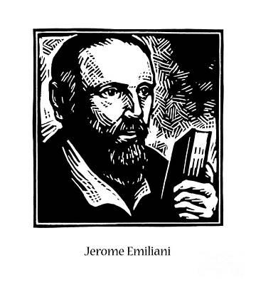 Painting - St. Jerome Emiliani - Jljee by Julie Lonneman