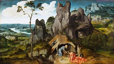 Sky Painting - St Jerome In The Desert by Joachim Patinir