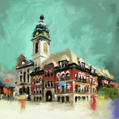 Church Art Painting - St. John Cantius 523 1 by Mawra Tahreem