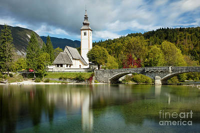 Photograph - St John Church - Slovenia by Brian Jannsen