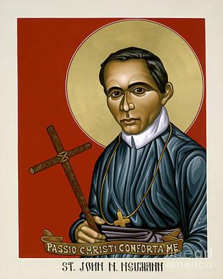 Painting - St. John Nepomucene Neumann - Lwjnn by Lewis Williams OFS