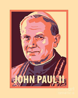 Painting - St. John Paul II - Jljpt by Julie Lonneman