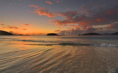 Photograph - St. John Sunset Reflections by Stephen  Vecchiotti