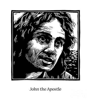 Painting - St. John The Apostle - Jljap by Julie Lonneman