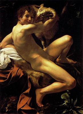 Painting - St. John The Baptist As A Child by Michelangelo Caravaggio