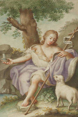 Lamb Of God Painting - St John The Baptist by Austrian School