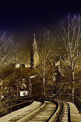 Manayunk Photograph - St. John The Baptist From The Rail Road Trestle In Manayunk by Bill Cannon