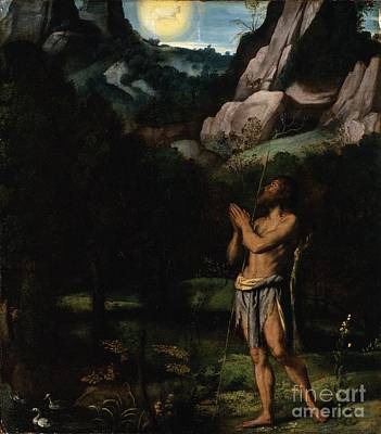 Baptist Painting - St. John The Baptist In The Wilderness by Celestial Images