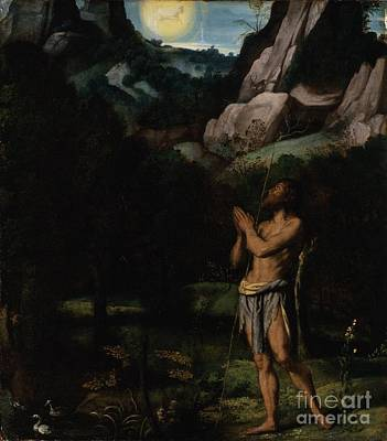St. John The Baptist In The Wilderness Art Print by MotionAge Designs