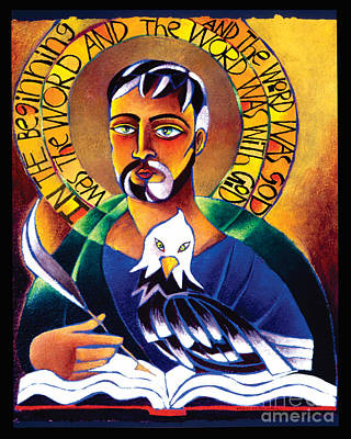 St John The Evangelist Painting - St. John The Evangelist - Mmjev by Br Mickey McGrath OSFS