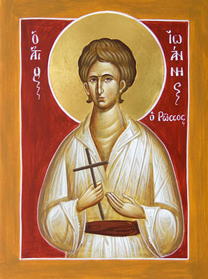 Byzantine Icon Painting - St John The Russian by Julia Bridget Hayes