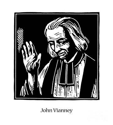 Painting - St. John Vianney - Jljov by Julie Lonneman
