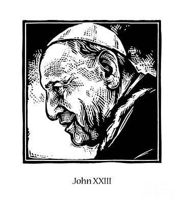 Painting - St. John Xxiii - Jljox by Julie Lonneman