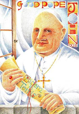 Painting - St. John Xxiii - Mmpjh by Br Mickey McGrath OSFS