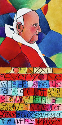 Painting - St. John Xxiii - Mmxx3 by Br Mickey McGrath OSFS