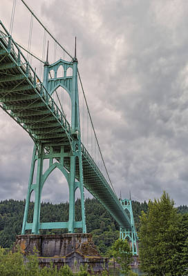 St. Johns Bridge Art Print by Loree Johnson