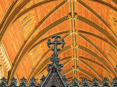 Photograph - St John's Chapel Ceiling by Jean Noren