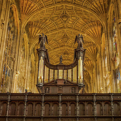 Photograph - Kings College Chapel by Jean Noren