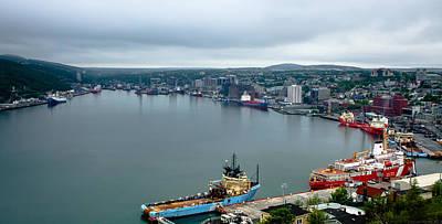 City Digital Art - St John's Harbour by Super Lovely