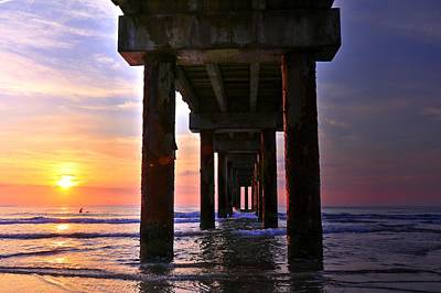 Photograph - St. Johns Pier St. Augustine Florida by Carol Montoya