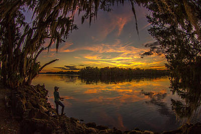 Photograph - St. John's River Camping by Adrian E Gray