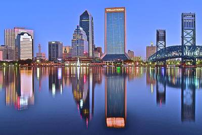 Photograph - St Johns River Reflects Jacksonville by Frozen in Time Fine Art Photography