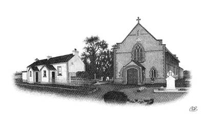 St. John's School And Chapel - Annaghmore Art Print by Conor OBrien