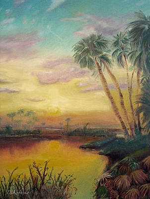Painting - St. Johns Sunset by Dawn Harrell