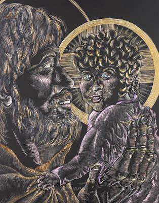 St. Joseph And The Child Jesus Original